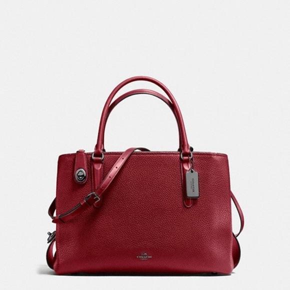 Coach Handbags - Coach Brooklyn Carryall 34 in Pebble Leather 9c097c3067710